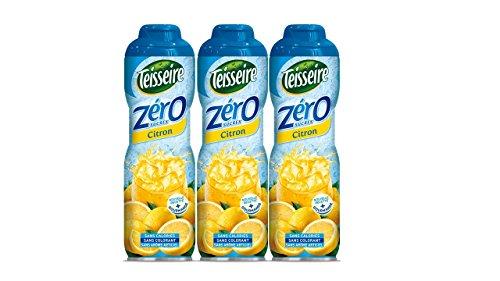 Pack de 3 sirops Teisseire 0% de sucre citron - 3 x 60 cl