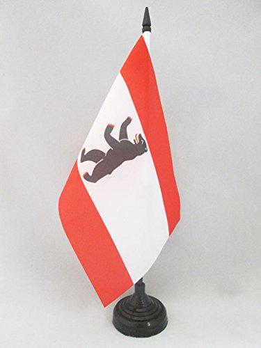 AZ FLAG TISCHFLAGGE Berlin 21x14cm - Berlin TISCHFAHNE 14 x 21 cm - flaggen