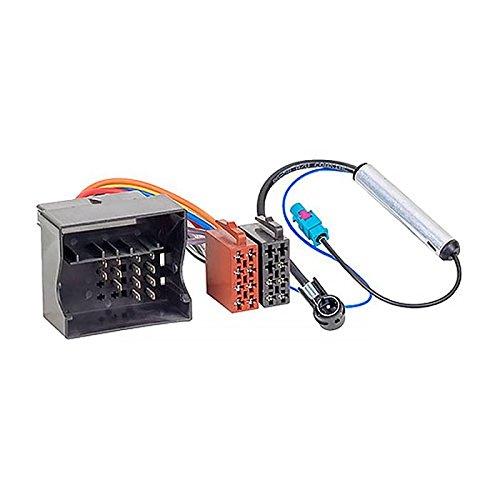 Audioproject A162 - Radioadapter Set Quadlock auf ISO + Antennenadapter Fakra auf ISO kompatibel für VW Audi Skoda Seat Golf 5 6 Polo 9n Phantomeinspeisung Auto-Radio Adapter-Kabel Stecker