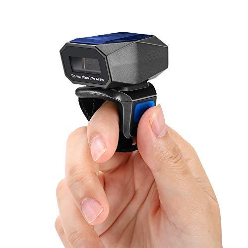 Eyoyo 1D Scanner de code à barres sans fil Bluetooth, lecteur de code à barres avec câble USB 3 en 1 Numérisation rapide Mini lecteur de code à barres portable