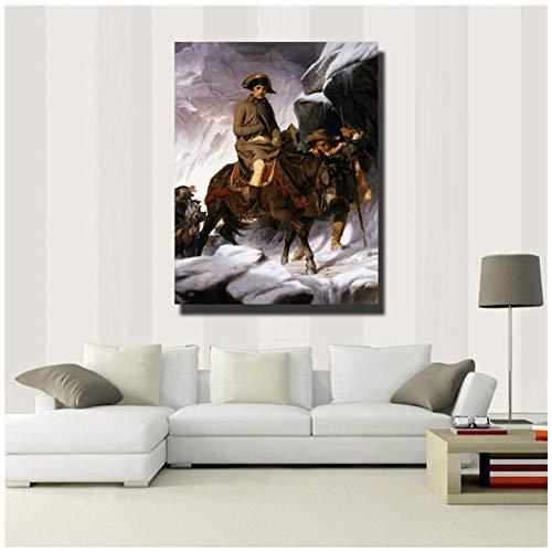 sjkkad gedrukt Napoleon poster schilderij op canvas muurkunst afbeelding voor woonkamer hoofddecoraties uniek geschenk-50x70 cm geen lijst