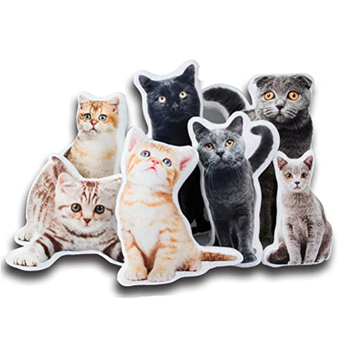 ZWSLY 3D Shape Pillow Cushion Personalized Pet Pillow Custom Photo Pillow Cat/Dog Throw Pillow Thanksgiving Gift for Pet Lovers(Single-Sided 40cm/16 in)
