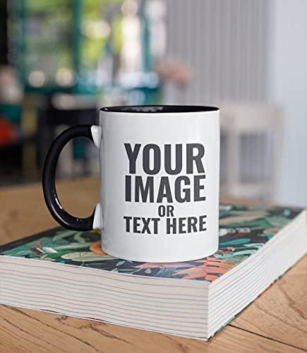 PandainspirS Tasse Personnalisée Customized Mug - Tasses Personnalisées avec Photo Texte Couple Tasse à Café Anniversaire se marier pour père mère petite amie petit ami fils fille...