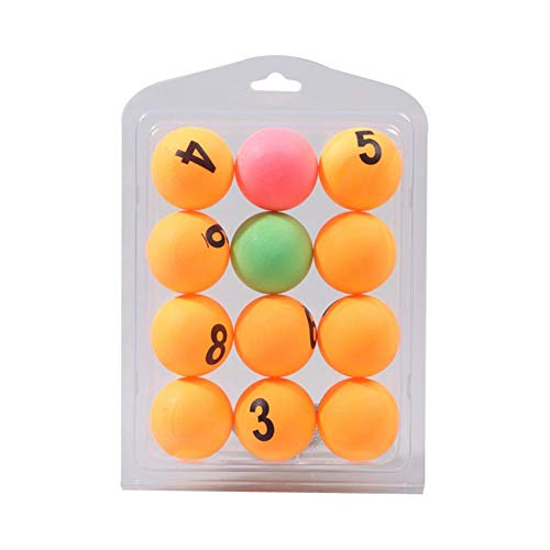 Best Price Feileng 12PCS 40MM Color Number Table Tennis,Professional Advanced Ping Pong Balls,Number...