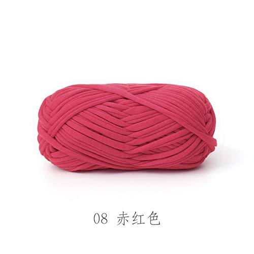 Tela de hilo de gancho envuelva tejido a mano de la línea de la alfombra de la línea de la alfombra manual DIY tejer lana gruesa ganchillo tutorial