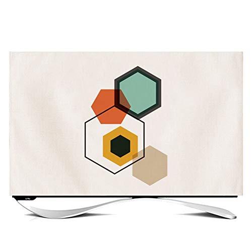 catch-L Interior Cubierta De Polvo De Electrodomésticos TV LCD Colgando Superficie Vertical Estampado Geométrico (Color : Num1, Size : 37 Inches)