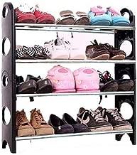 ELECTROPRIME Glive's 4 Tier Stackable Shoe Rack 12 Pairs Shoe Rack Organizer Four Layer Shoe Rack/Shoe Shelf/Shoe Cabinet for Office & Home