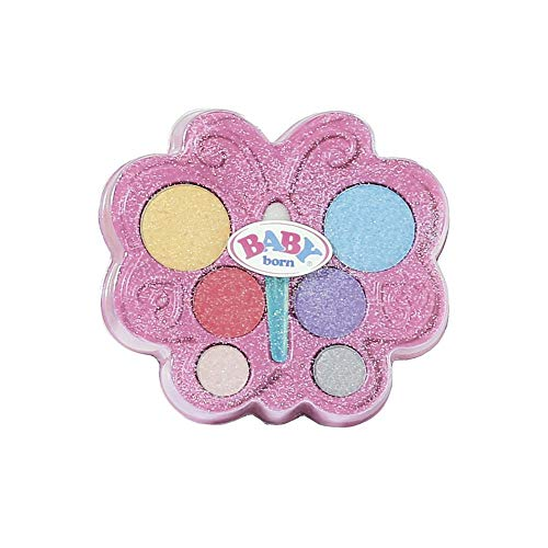 Zapf Creation 828724 BABY born Sister Styling Make up Set in Schmetterlings-Palette mit Apllikator, für Puppe und Kinderhaut