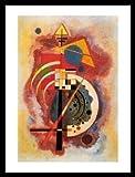 Kandinsky Homage a Grohmann Poster Kunstdruck Bild im Alu