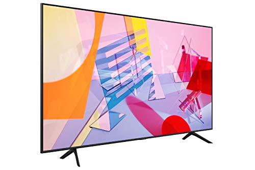 """Samsung QE50Q60TAUXZT Smart TV 50"""" QLED 4K, Ultra HD, Dual LED, Processore Quantum Lite, Quantum HDR, Wi-Fi, New Bezel-less design, Nero, 2020, Alexa integrata, Google Assistant compatibile"""