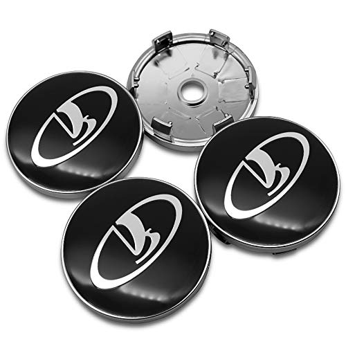 wangjianbin 4pcs 60mm Centro De Ruedas Tapas De Cubo, Car Emblem Badge Logo Centro De Rueda Tapa, para Lada Niva Kalina Priora Granta Largus VAZ Samara