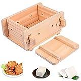 UPKOCH Tofu Press Mould Tofu Maker Kit Fai da Te Fatto in Casa Tofu Maker Pressing Mold Kit Wooden Soy Cagliata Che Fa Strumenti Utensili da Cucina Gadget