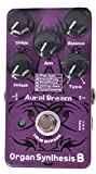 Aural Dream Organ B Synthesis Guitar Effect Pedal includes POP Jazz,Groovy&Funky,Pink Floyd,Jimmy Jazz and Funky Comping effects with Rotary Speaker,Percussion and Chorus modules,True Bypass.