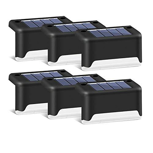 ACHICOO 4pcs LED Scale solari luci Esterni Impermeabili Giardino Cortile Cortile Patio Recinzione lampade Luce Calda Nera