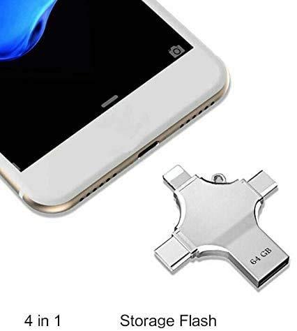maxineer USB Stick 64GB für iPhone Externer Speicher Speichererweiterung USB 3.0 Speicherstick Kompatibel für iOS iPhone iPod iPad Handy OTG USB C Android Computer Mac Laptop PC (64GB)