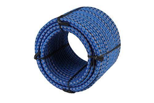 Magma Rotolo di Corda Elastica 25 m | Corde Elastiche da 8 mm di Diametro per Pesca, Vela, Campeggio, e Fissaggio Teloni | Extra Forte, per Interno, Esterno, Giardino e Auto | Blu
