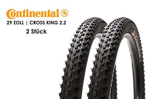 2 Stück 29 Zoll Continental Cross King Fahrrad Reifen 29x2.2 Mantel 55-622 Decke Tire schwarz