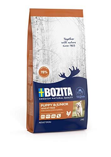 BOZITA Puppy & Junior Weizenfrei Hundefutter für Welpen - 2 kg - nachhaltig produziertes Trockenfutter für Welpen, Junghunde und laktierende Hündinnen - Alleinfuttermittel - Welpenfutter