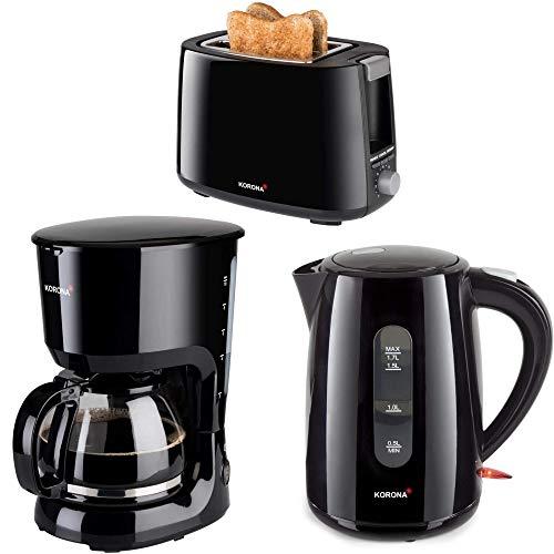 Kor.2 Frühstücksserie im trendigen schwarz 3 Geräte =1Preis