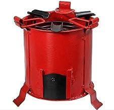 Ek Do Dhai Angeethi BBQ Style Metal Ashtray(16 cm x 13 cm x 12 cm, Red)
