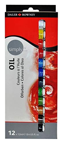 Tinta a óleo Simply Daler Rowney DR118500100 estojo 12 cores
