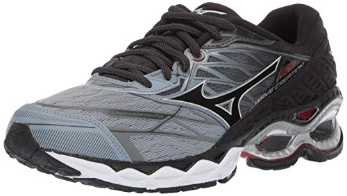 Mizuno Men's Wave Creation 20 Running Shoe, Trade Winds-Black, 10 D US