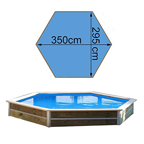 Water'clip20078Piscina in legno 3,5x 2,95x 0,40m, Minduro