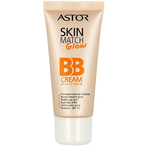 Astor SkinMatch Glow BB Cream, Farbe 100 Ivory, 1er Pack (1 x 30 g)