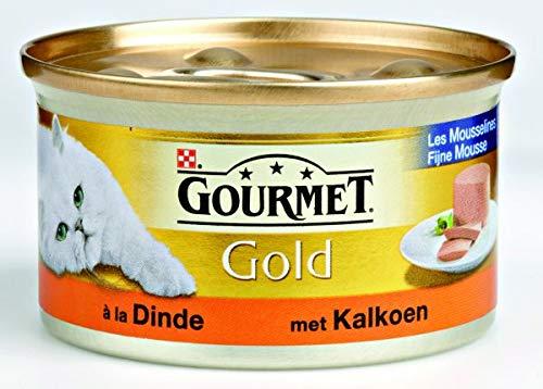 Gourmet gold fijne mousse kalkoen kattenvoer 85 GR