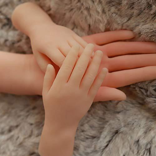 KYWW Fetisch Simulation Handmodell Echte Silikonform Show Schönheit Hand Down Modell Gesundheit Hand Fetisch, kleines Mädchen Hand Modell Show,Right