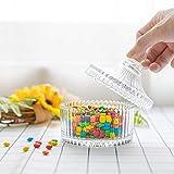 ComSaf Bonboniere mit Deckel Ф10cm 2er-Set, Zuckerdose aus Glas Klein, Lebensmittelechter Glasbehälter für Snacks - 7