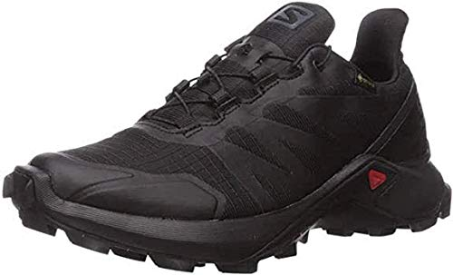 Salomon Women's Supercross GTX Trail Running Shoes, Black/Black/Black, 7.5