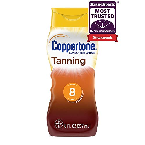 Coppertone Tanning Defend & Glow Sunscreen With Vitamin E Lotion SPF 8, 8 Fluid Ounces