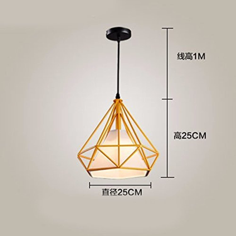 Hai Ying   Pendelleuchte Kronleuchter Restaurant Licht Diamant Birdcage Pyramide Loft Flure Treppe Orange 25 cm