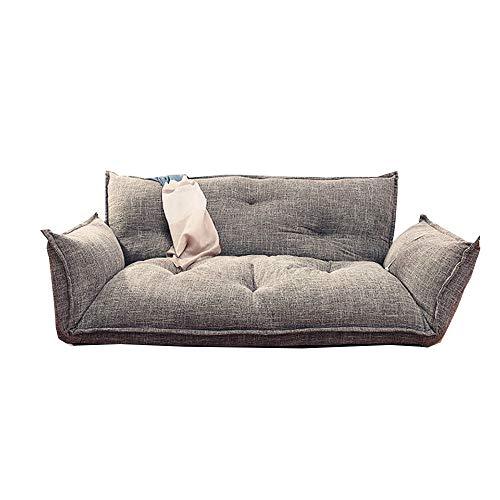 Sofa GJDBBLY Vloer Slaapbank 5 Posities Verstelbare Japanse Stijl Meubels Kamer Liggende Opklapbare Sofa Bank Zoals afgebeeld Donkergrijs