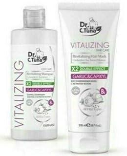Farmasi Dr. C. Tuna Vitalizing Garlic&Capixyl Hair Care Set, Shampoo +Hair Mask