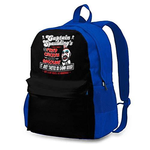 IUBBKI Mochila lateral negra Mochilas informales Captain-Spaulding Backpack Travel Bag College School Backpack Computer Bag Gifts for Women&Men