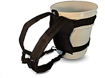 Backpack for 5 Gallon Buckets for Ice Fishing Picking Apples and Sports