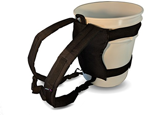Backpack for 5 Gallon Buckets for Ice Fishing, Picking Apples and Sports