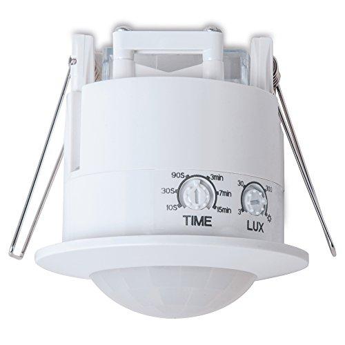 sonero IMS070 Deckeneinbau-Bewegungsmelder – Innenmontage zum Deckeneinbau, weiß, Schutzklasse: IP20, 360° / 6m Arbeitsfeld