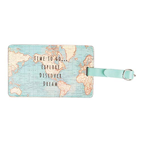 Sass & Belle Vintage Map Time to Go Luggage Tag