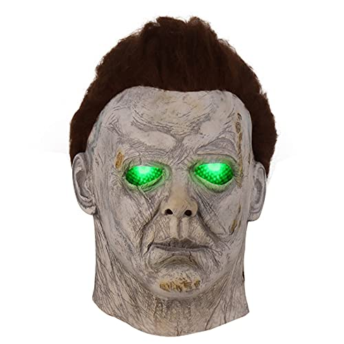 Michael Myers Mask - LED Light Up Realistic Replica Face Mask Scary...