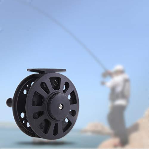 Kingus Fliegenfischrolle leicht, tragbar Fliegenrute, Eis, Angelrad für Angelzubehör, schwarz