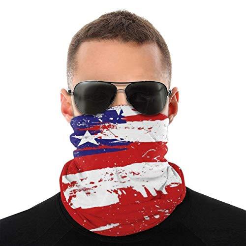 Bandeau, Écharpe Bandana sans couture élastique de Style de brosse de drapeau de l'Amérique, série de chapeaux de sport de résistance aux UV randonnée équitation motocyclisme