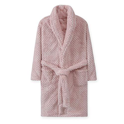 AYDQC 4-18 años otoño Invierno baño niños Dormir Ropa de Dormir 2020 niños baño Bata cálida Suave Pijamas para niña Muchacho Adolescente Flannel túnica (Color : B, Size : 10T)