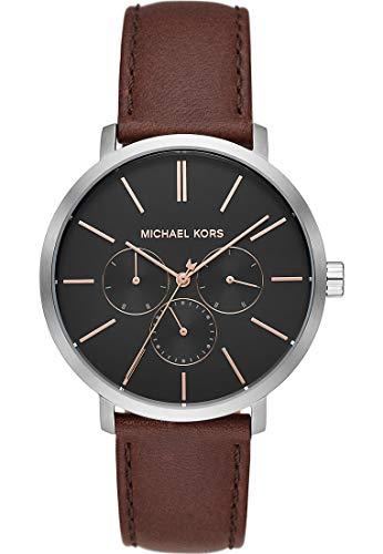 Michael Kors Reloj Analógico para de los Hombres de Cuarzo con Correa en Cuero MK8843