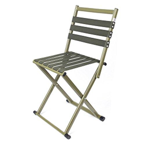 Chaises pliantes Jardin et Patio Tabouret de pêche pliant tabouret chaise de loisirs en plein air pêche épaisse chaise tabouret pliant chaise de camping portable ( Color : Green , Size : 36*31*39cm )