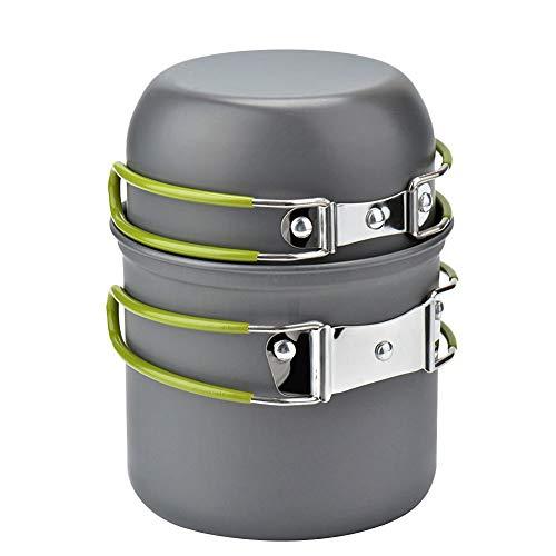 BONNIO Set de tazón de Cocina al Aire Libre Camping Senderismo Utensilios de Cocina Mochilero Picnic Pot Pan