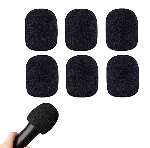Voarge 6 Piezas Cubierta de Esponja para Micrófono Globular, Fundas de Esponja para Micrófono de Mano, para Reducir los Ruidos de Viento