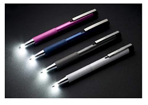 ゼブラ ライト付きボールペン ライトライト4色 P-BA95-DB/GBK/P/W 4色4本組み